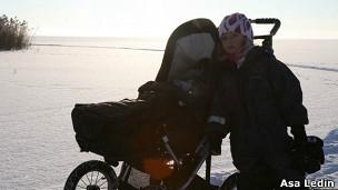Bebê sueco. Foto Asa Ledin