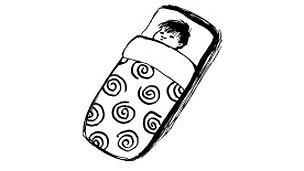 Ilustración finlandesa de bebé durmiendo
