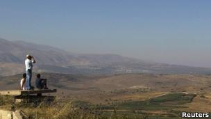 Foto de arquivo das colinas do Golã, ocupadas por Israel em 1967 (Reuters)