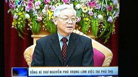 TBT Nguyễn Phú Trọng phát biểu tại Phú Thọ
