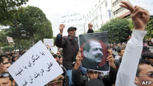 Unjuk rasa di Tunis
