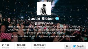 Justin Bieber en Twitter