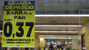 Bajada de precios en supermercados españoles