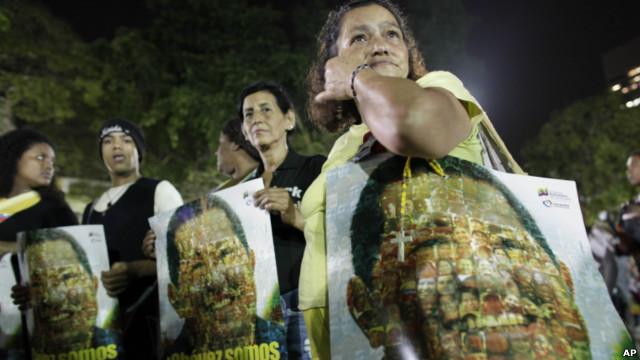 Simpatizantes de Hugo Chávez en Caracas