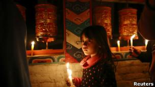 尼泊尔难民营中的流亡藏人