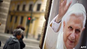 Cartel de Benedicto XVI en Roma