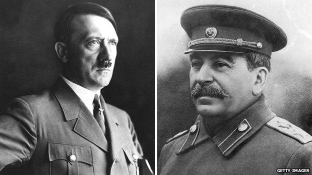 Adolf Hitler và Joseph Stalin