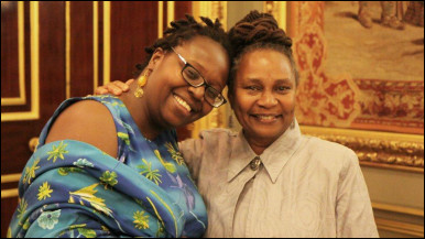 International Playwriting Competition 2012 winners Angella Emwuron and Janet Morrison