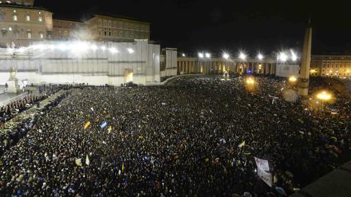 Multidão no Vaticano
