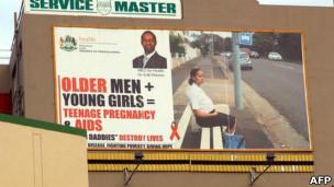 Campanha anti-AIDS na África do Sul (Foto AFP)