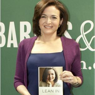 Sheryl Sandberg, durante a apresentação de seu livro (Getty Images)