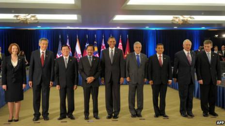 參加tpp談判的國家領導人