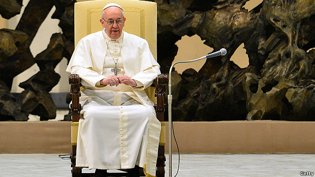 Papa en su primer encuentro con la prensa