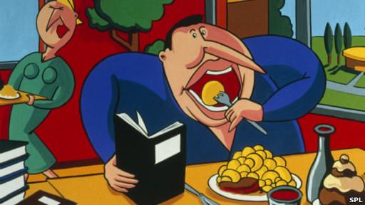 """边吃东西边看电视为什么""""催肥""""? - 雪山 - ."""