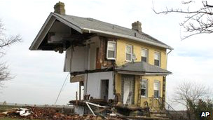 Casa destruida por el huracán Sandy