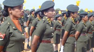 இராணுவத்தில் சேர்க்கப்பட்ட தமிழ்ப் பெண்கள்