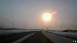 Meteoro caindo na Rússia