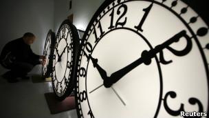 Instalación de relojes