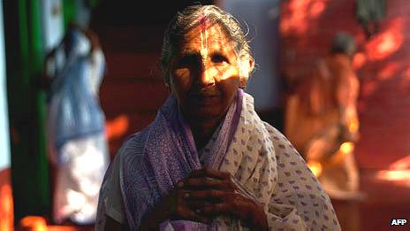 Viuda en India