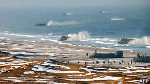 Ejercicios de desembarco norcoreanos