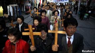 Páscoa na Coreia do Sul. Reuters