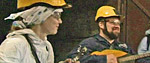 Musicians playing for Russian Miners