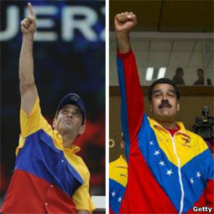 Henrique Capriles y Nicolás Maduro