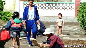 Población en el campo en Corea del Norte