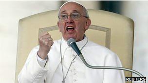 Francisco en un discurso