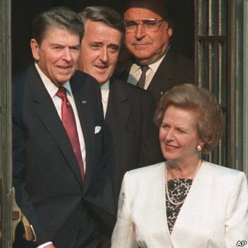 Cựu Thủ tướng Anh, Margaret Thatcher, và Tổng thống Mỹ, Ronald Reagan