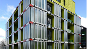 La construccion de este edificio con fachada biorreactiva costó US$6,5 millones.