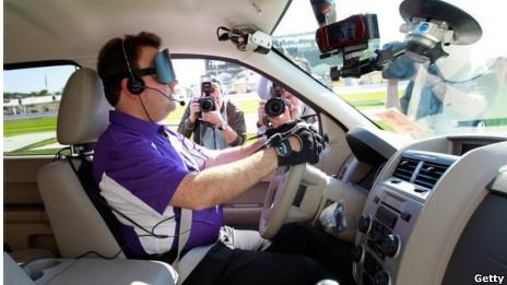 Conductor en un carro automatizado