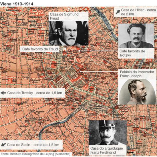 Mapa Viena 1913-1914 | Foto: BBC