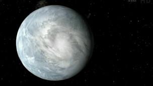 Representação gráfica de planeta descoberto por cientistas (crédito: NASA)