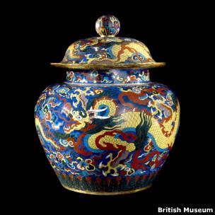 宣德景泰藍瓷壇