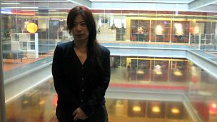 白曉紅在BBC總部大樓