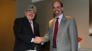 Ex-presidente Lula e  Michael Greenspon, do 'New York Times'