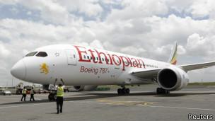 埃塞俄比亞航空的波音787抵達內羅畢