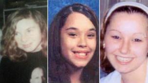 Las tres jóvenes liberadas