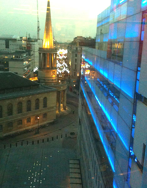 The view from the 5th floor of New Broadcasting House