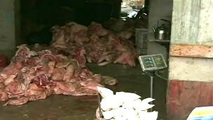 Một lò sát sinh ở Trung Quốc
