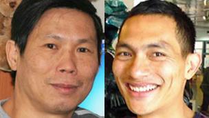 Ông Phạm Văn Điệp (trái) và Trần Trọng Linh đều bị cấm vào Việt Nam