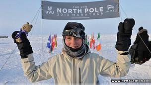 maratón en el Polo Norte