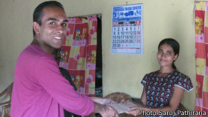 Nirmala with Nimal Samantha of Nona Foundation