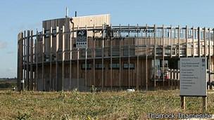 Centro de información para visitantes en el Parque Natural Thurrock Thameside