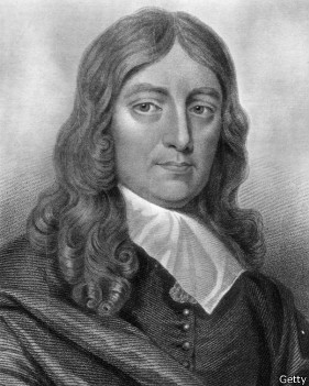 O poeta inglês John Milton