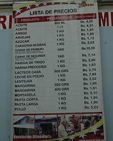 Lista precios Mercal