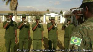 Banda de Música dos fuzileiros (Crédito: Divulgação/Comando-Geral do Corpo de Fuzileiros Navais)