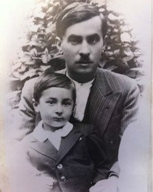 Giorgos Dimopoulos y su padre