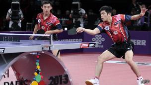 陳建安(左)/莊智淵(右)勇奪世乒賽男雙冠軍